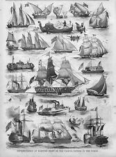 NAUTICAL MARITIME CRAFT OF VARIOUS NATIONS IN THE WORLD STEAMSHIPS GONDOLA CANOE