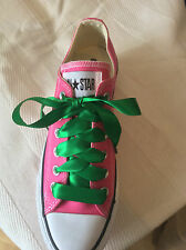 SATIN RIBBON SHOE LACES. NEW COLOURS trainer  low/hi or other type shoe
