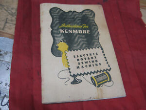 Kenmore 117.552 117.812 Rotary Sewing Machine Instruction Users Manual Guide