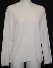 CHARTER CLUB 100% 2-Ply Cashmere Shell V-Neck Sweater X-Large $129 NWT FREE SHIP