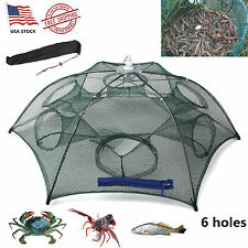 H-Q Fishing Bait Net Trap Cast Dip Cage Crab Fish Minnow Crawdad Shrimp Foldable