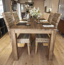 Monjong 200cm Reclaimed Dining Set with 8 Banana Leaf Chairs