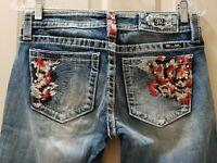 "Miss Me Signature Skinny Denim Jeans. Size 26 Rise 7.5 Waist 30X30L Hips 36"""