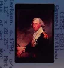 "Gilbert Stuart ""General Matthew Clarkson"" 35mm American Portrait Painting Slide"