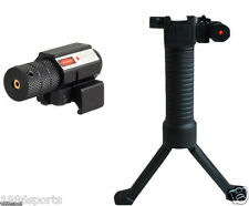Mount 20mm Bipod Foregrip+Red Dot Laser Sight Picatinny QD System Weaver #H20