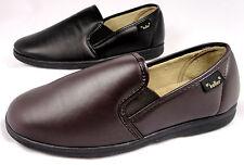 Mens Dr Keller Slipper Brown Black Faux Leather Slip On From £9.99 Delivered