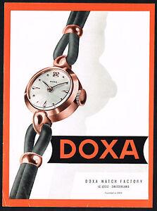 1950s Original Vintage Doxa Ladies Watch Mid Century Modern Art Print Ad