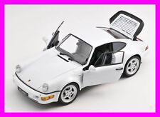 BLITZ VERSAND Porsche 911 964 Turbo weiss / white Welly Modell Auto 1:24 NEU OVP