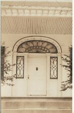 Antique REAL PHOTO POSTCARD c1907-14 Doorway Sortwell House WISCASSET, ME MAINE