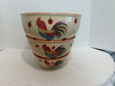 New listing HausenWare Nesting Bowls(3) Rooster and Strawberry