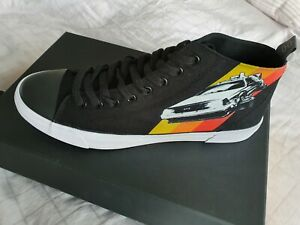 AKEDO X Back To The Future Black Adult High Top Trainers UK 10, BTTF SOLD OUT