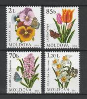 Moldova 2011 Flowers 4 MNH stamps