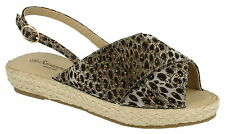 Women's Textile Animal Print Sandals and Beach Shoes