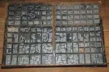 NORD 24p Bleischrift im Setzkasten Bleisatz lead type Typographie Handsatz
