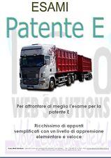 Manuale Esami Ed. 2017 Patente E * Libro Guida Esaustivo Rimorchio BE DE CE C1E