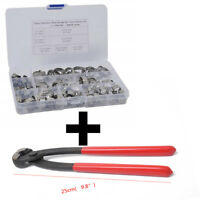 70PCS anti-corrosion Single Ear Clamp Hose Clamp + Clamp Pliers Stainless