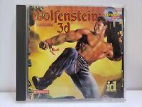 RARE Wolfenstein 3D PC Shareware CD-ROM 1995 ID SOFTWARE FREE SHIPP