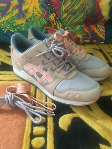 Asics Gel Lyte 3 Ronnie Fieg Flamingo Limited Edition Leather Sneakers US 11