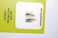 superfly premium 2 flies fly fishing nymph BH hare's ear size # 18 trout etc..