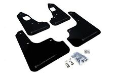 Rally Armor Mud Flaps Guards for 08-15 Lancer EVO X (Black w/Grey Logo)