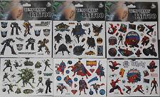 über 100x Superhelden Tattoo für Kinder Jungen Mitgebsel Kindergeburtstag