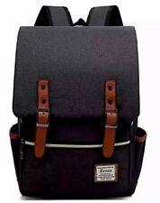 NEW Kenox Backpacks Vintage Style Black Laptop College School Bag Fits 15-inch