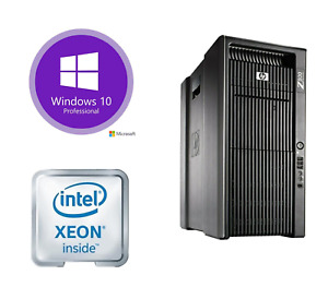 HP Z800 Watercooled Workstation 12 CPU Cores 3.4GHz 48GB 500GB SSD Quadro K5000