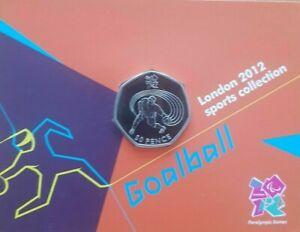 Goalball Olympic 50p coin Royal Mint bu  royal mint olympic bunc