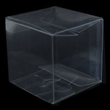 1 x Bomboniere favour clear PVC LARGE wedding gift cup cake product box 15cm sq