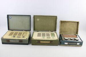 3 x Vintage Portable Transistor RADIOS Inc. PYE, Vidor, Cased Etc