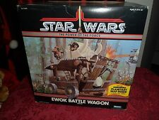 Vintage Star Wars Power of the Force Ewok Battle Wagon SEALED