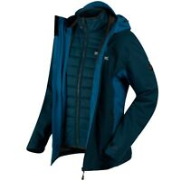 REGATTA Mens Westwood II 3-1 Jacket - Majolica Blue - S M L XL 2XL - rrp £160
