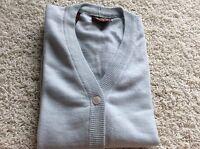 Bobby Jones  Knit Vest Light Blue M Medium Made in Italy 100% Wool Women's