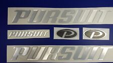"""PURSUIT boat Emblem 20"""" chrome + FREE FAST delivery DHL express - stickers decal"""