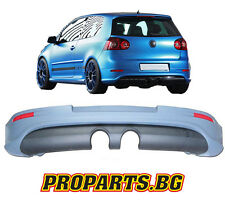 Painted Golf 5 V MK 5 R32 Look Rear Bumper Spoiler Valance Diffusor Add on