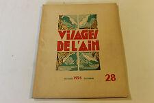 revue VISAGE DE L AIN 28 1954