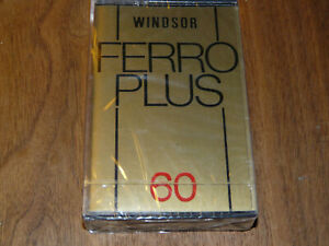 WINDSOR Ferro Plus 60 Leerkassette Musikkassette neu in Folie, vintage tape