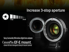 UK Seller! AF Speed Booster Adapter for Canon EF Lens to Sony NEX as Metabones