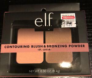 E.l.f. Contouring Blush - Bronzing Powder, St. Lucia 0.28 oz Includes Mirror New
