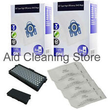 10x 3D Type GN Bags HEPA Filter For MIELE C3 Complete Vacuum Cleaner 10xGN+AH50