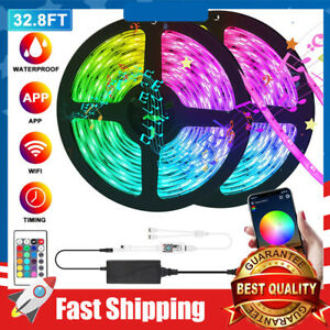 Water proof LED Strip Lights, 32.8ft 5050 RGB Color Changing 300 LEDs Music Sync