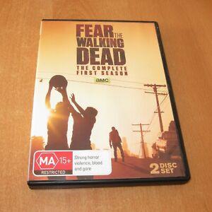 FEAR THE WALKING DEAD - SEASON 1 ( DVD , 2 DISC SET REGION 4 ) LIKE NEW
