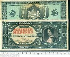 UNGHERIA HUNGARY 100.000 MILPENGO 1946 RARRRR lotto 1