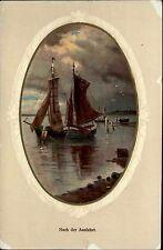 Schiffe 1910 Schweiz Barque Segelschiff Ship Postcard Stempel Pfäffikon Zürich