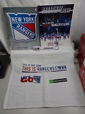 New York Rangers 2015 Playoffs Program Wristband Bracelet Rally Towel & Yearbook