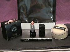 KAT VON D TRAVEL LOCK IT POWDER+TROOPER TATTOO LINER+STUDDED KISS MUSE wLOGO BAG
