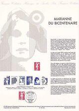 Document Philatélique Timbre 1er Jour : 31/12/ 1989 - Marianne du Bicentenaire