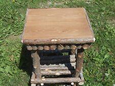 Log Furniture Rustic Cedar Twig End Table Stand