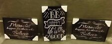 Be Happy Life is Good  Decorative  Framed Pictures Set of Three