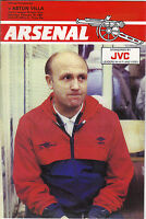 Arsenal v Aston Villa 1983/84 division 1
